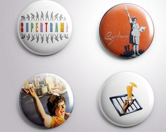 4 SUPERTRAMP pins / buttons / magnets - Different options