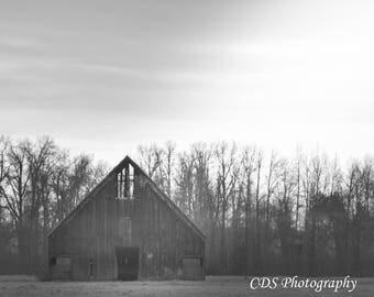 Olsen Barn- Unframed Landscape Photography, Wall Art, Barn Photography, Farm house Photography
