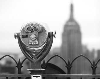New York City Skyline Photography // Empire State Building // Modern Art // Travel Photography // Black and White // Mid Century Vintage