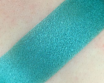 Magic Stick - Teal Loose Mineral Eye shadow 5g Jar Eyeshadow or Eyeliner Teal High Shine Luster low Sparkle Vegan Makeup