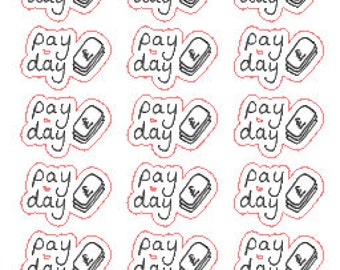 Pay Day // Stickers // Erin Condren // Personal Filofax // Planner
