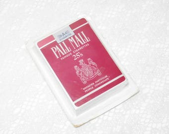 Vintage Pall Mall Cigarette Playing Cards | Tobacciana Collectible | Phillip Morris | New Old Stock