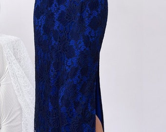 Exciting Evening Dress For The Celebration For A Party  Bridesmaid  Nice  Long Blue Prom Graduation Dress