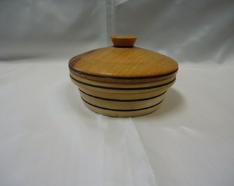 Handmade small Curly Maple Container with Lid