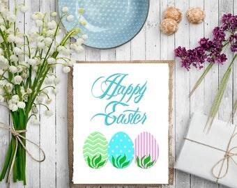 Happy Easter Digital Art, Digital Prints, Printable Art
