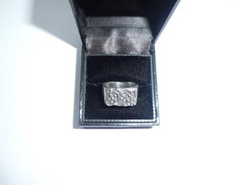 Vintage Floral Sterling Silver Ring    UK N.5