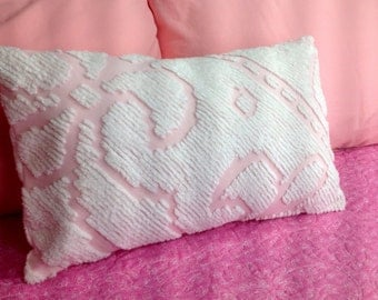 Vintage chenille pillow covers