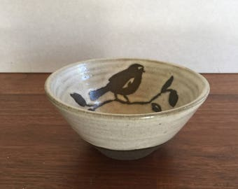 SOLD  Small Bowl with Bird Design