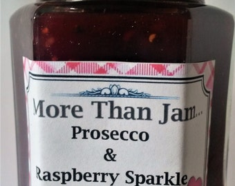 Prosecco & Raspberry Sparkle Preserve 215g Gift Mother's Day Homemade Artisan Jam Love