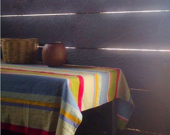 """Magnificent Hand-woven TableCloth """"Tzaj"""" From Oxchuc - Mexico"""