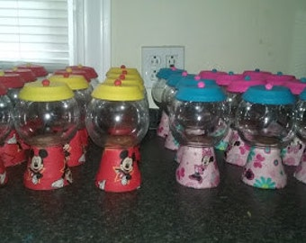 10 Mickey and Minnie Gumball Jar set