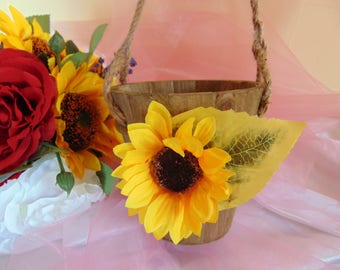 Rustic Flower Girl Basket, Rustic Wedding, Engraved Basket, Personalized Basket, Small Flower Girl Basket,Rustic Wedding Decor, Flower Girl