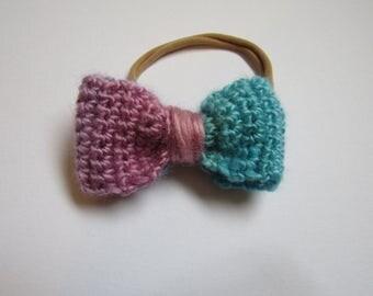 Crochet bow, crochet accessory, baby bow, baby headband, crochet head piece