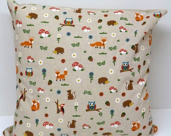 Woodland Friends Cushions with Fillers Various Sizes 28cm , 36cm, 43cm , 60cm