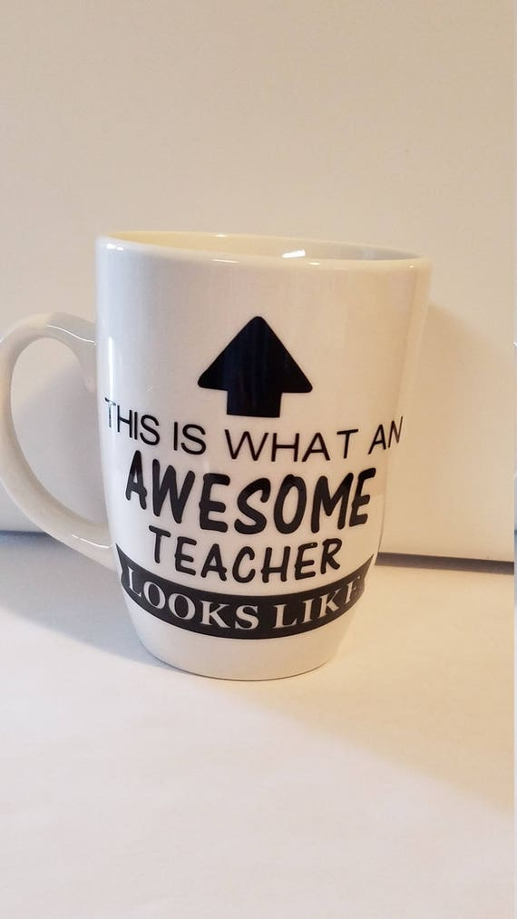 Awesome Teacher Coffee Mug Decal Teacher Appreciation End Of