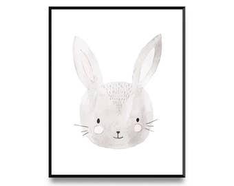 Cute Bunny Print, Nursery Decor, Nursery Wall Art, Nursery Art, Animal Print, Nursery Artwork, Nursery Prints, Animal Art, Printable Art