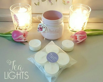 Pack of 4 Soy Wax Fragranced Tea Lights