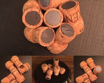 Champagne Cork Magnets- Set of 6