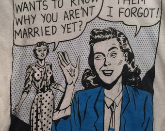 Vintage Comic strip Marriage shirt