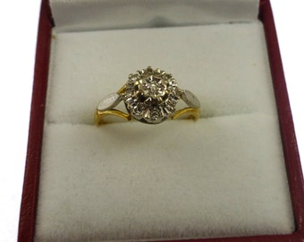 Vintage Diamond Cluster Ring - diamonds cluster ring 18ct ring vintage ring diamonds