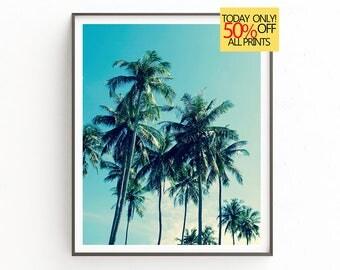 Palm Wall Print, Tropical Wall Art, Beach Wall Decor, Digital Print, Tropical Decor, Palm Art Print, Palm Leaf Art, Palm Print, Maiami Decor