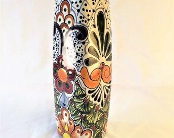 Floral and leaf vase
