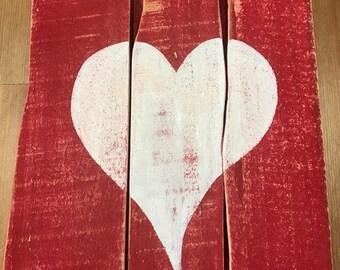 Rustic Wood Valentines Heart