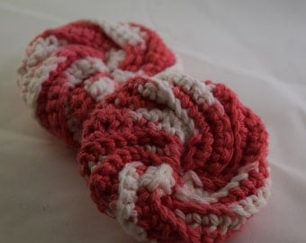 Face Scrubbies Set - Pink and White