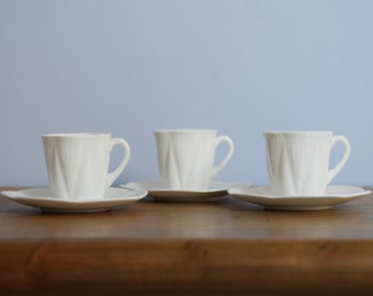 Trio of 'Dainty' Shelley Cups & Saucers