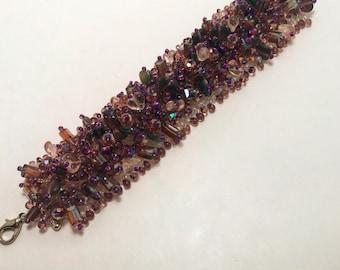 Purple Cluster Bracelet