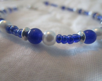 Ladies Beaded Bracelet---handcrafted by Neela, age 10