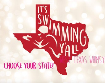 It' Swimming Y'all, swimming svg, swim mom svg, custom swimming svg, swim fan svg, swim coach svg, swim fan svg, competitive swimming svg