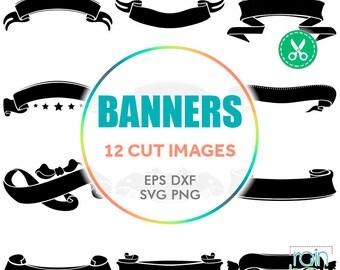 Ribbon Banner Svg, Banner Svg, Banner Clipart, Banner Digital, Ribbon Svg, Ribbon Banner Clipart, Digital Cut Files, Svg Cuts, Svg Bundle