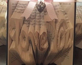 Folded book art - Love you