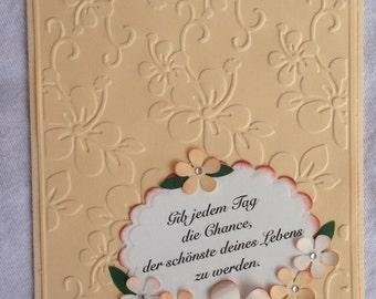 Grusskarte mit einem Spruch