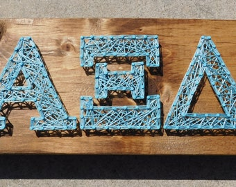 Alpha Xi Delta String Art - 12x5.5