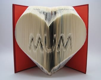 Folded book - Mum Heart - Mothers day gift - Book sculpture - Altered book - Love gift - Mom - Mam