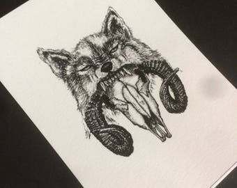 Schaf im Wolfspelz - Postkarte - Kunstdruck A6