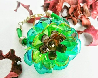 Recycled plastic and rubber bracelet