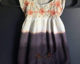 Size 18-24 month dress dipped dyed for ombre look