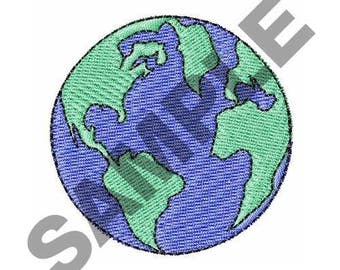 Earth- Embroidery Design