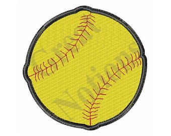 Small Softball - Machine Embroidery Design