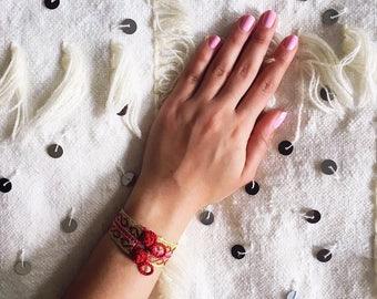 Moroccan Bracelet, Boho Chic Bracelet, Moroccan Jewelry, Gypsy Cuff, Handmade, Boho Jewelry- Free US Shipping