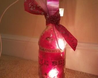 Colorful spring lighted bottle