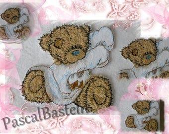 Patch Shahin application, aufbügelbar, embroidery thread.