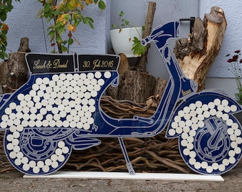 Guestbook wedding tree Vespa