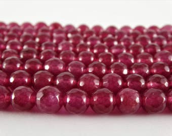8 mm ruby beads ruby quartz beads faceted loose beads faceted round beads faceted ruby beads faceted ruby stones wholesale faceted beads 8mm