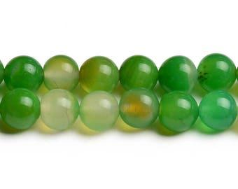 8mm green agate beads round green agate 8mm green beads agate supplies gemstone round beads semi-precious stone mala wholesaler craft beads