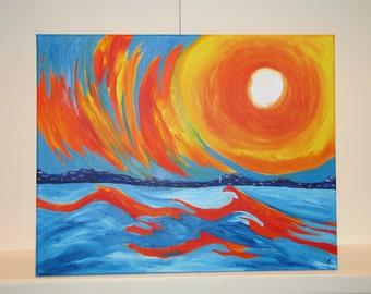 Sunset Abstract - Acrylic on Canvas