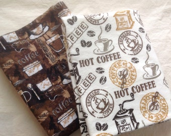 Coffee Lovers Pillow case, flannel,cozy, VT made